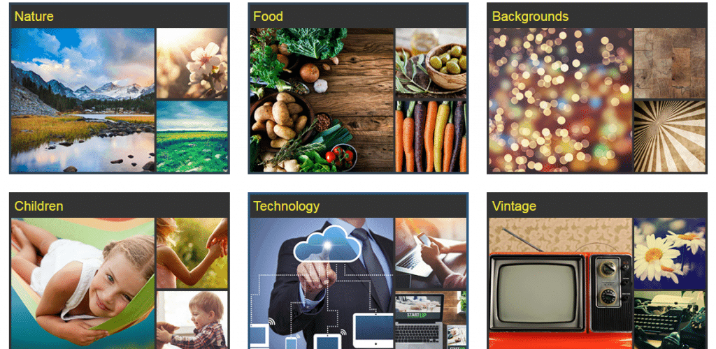 Bigstock Photography Categories