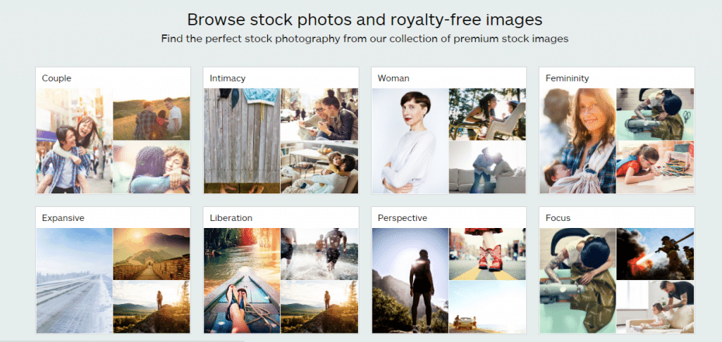 iStock Photography Categories